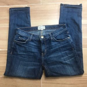 Current/Elliot Cropped Straight Jeans Size 26.